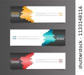 horizontal gradient color... | Shutterstock .eps vector #1133148116