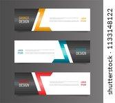 horizontal gradient color... | Shutterstock .eps vector #1133148122