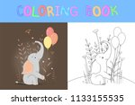 children's coloring book with...   Shutterstock .eps vector #1133155535