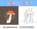 children's coloring book with...   Shutterstock .eps vector #1133155565