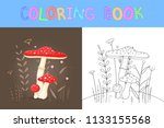 children's coloring book with...   Shutterstock .eps vector #1133155568