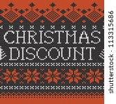 christmas discount ...   Shutterstock .eps vector #113315686