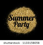 concept summer. shiny summer... | Shutterstock . vector #1133158058