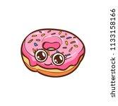 cute doughnut vector... | Shutterstock .eps vector #1133158166
