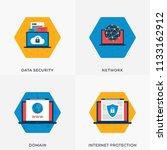 data security  internet... | Shutterstock .eps vector #1133162912