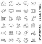 thin line vector icon set  ... | Shutterstock .eps vector #1133167088