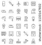 thin line vector icon set  ... | Shutterstock .eps vector #1133167832