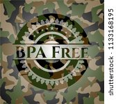 bpa free on camouflaged texture | Shutterstock .eps vector #1133168195