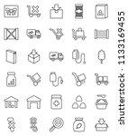 thin line vector icon set  ... | Shutterstock .eps vector #1133169455