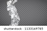 blizzard snowflakes on... | Shutterstock .eps vector #1133169785