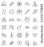 thin line vector icon set  ... | Shutterstock .eps vector #1133170805
