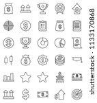thin line vector icon set  ... | Shutterstock .eps vector #1133170868