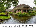 giethoorn  netherlands  typical ... | Shutterstock . vector #1133171372