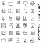 thin line vector icon set  ... | Shutterstock .eps vector #1133172065