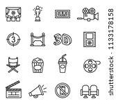 movie  cinema  film icons set... | Shutterstock .eps vector #1133178158