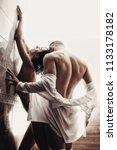 nude couple. passionate couple...   Shutterstock . vector #1133178182