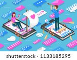virtual relationships and... | Shutterstock . vector #1133185295