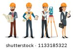 civil engineer  surveyor ... | Shutterstock . vector #1133185322
