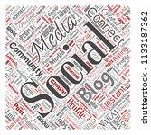 vector conceptual social media... | Shutterstock .eps vector #1133187362