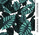 seamless tropical pattern.... | Shutterstock .eps vector #1133193638