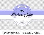 hand drawing blueberry jam...   Shutterstock .eps vector #1133197388