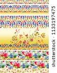 colorful  flower horizontal...   Shutterstock . vector #1133197475