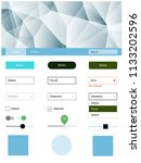 light blue  green vector web ui ...