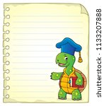 notepad page with turtle... | Shutterstock .eps vector #1133207888