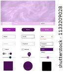 light pink vector web ui kit...