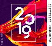 bright design 2019 template for ... | Shutterstock .eps vector #1133211872
