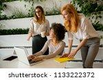 cheerful professional...   Shutterstock . vector #1133222372