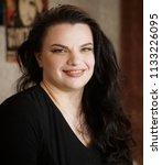 femme fatale plus size model | Shutterstock . vector #1133226095