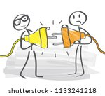 two plugs unable to be joined... | Shutterstock .eps vector #1133241218