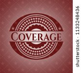 coverage vintage red emblem | Shutterstock .eps vector #1133248436