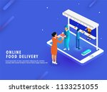 online food delivery concept ...