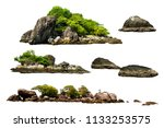 the trees. mountain on the... | Shutterstock . vector #1133253575