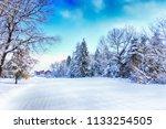 bansko resort panoramic view... | Shutterstock . vector #1133254505