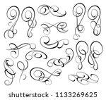 decorative elements  border ... | Shutterstock .eps vector #1133269625