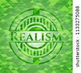 realism green mosaic emblem | Shutterstock .eps vector #1133275088