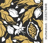 seamless pattern of cocoa... | Shutterstock .eps vector #1133276648