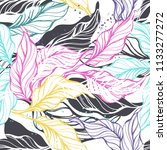 tropical seamless pattern with... | Shutterstock .eps vector #1133277272