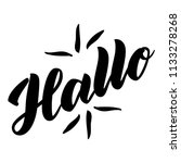 hallo. word hello  good day in... | Shutterstock . vector #1133278268