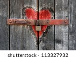 Engraved Heart In The Old...