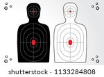 shooting range target isolated... | Shutterstock .eps vector #1133284808