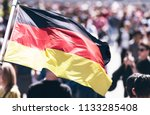crowd of people as background... | Shutterstock . vector #1133285408