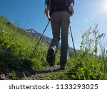 hiking in mountains | Shutterstock . vector #1133293025