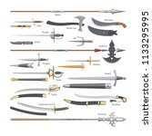 sword vector medieval weapon of ... | Shutterstock .eps vector #1133295995