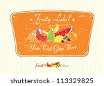 fruit store vintage label... | Shutterstock .eps vector #113329825