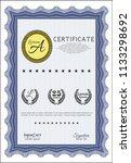 blue sample certificate....   Shutterstock .eps vector #1133298692