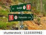 preikestolen  norway   june 13  ... | Shutterstock . vector #1133305982